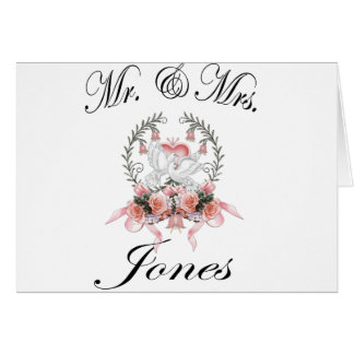Mr & Mrs. - Jones Card