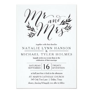 Mr. & Mrs. Kraft Rustic Wedding Invitation