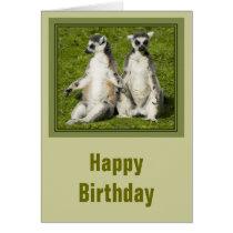 Mr & Mrs Lemur Birthday Card