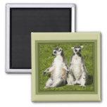 Mr & Mrs Lemur Fridge Magnet