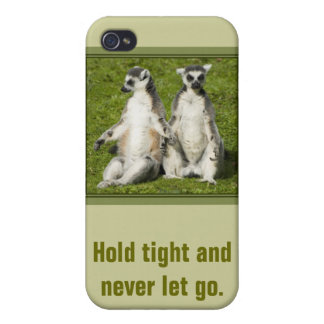 Mr & Mrs Lemur - Hold tight and never let go iPhone 4 Cover
