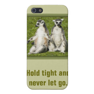 Mr & Mrs Lemur - Hold tight and never let go iPhone SE/5/5s Cover