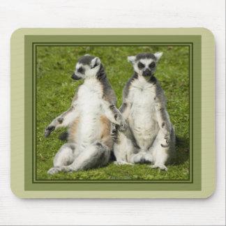 Mr & Mrs Lemur Mouse Pad