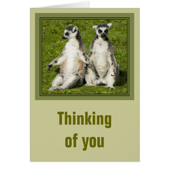 Mr & Mrs Lemur Thinking of you Card