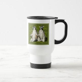 Mr & Mrs Lemur Travel Mug