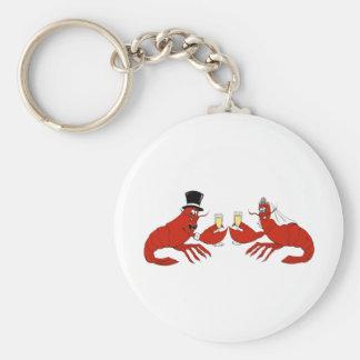 Mr. & Mrs. Lobster Basic Round Button Keychain