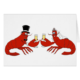 Mr. & Mrs. Lobster Greeting Card