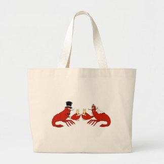 Mr. & Mrs. Lobster Large Tote Bag