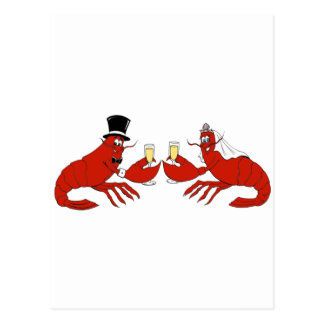 Mr. & Mrs. Lobster Postcard