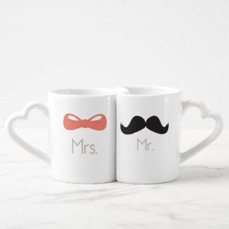 Mr & Mrs {Love Mugs} Couples Coffee Mug
