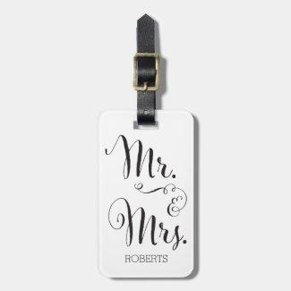 Mr. & Mrs. Luggage Tag