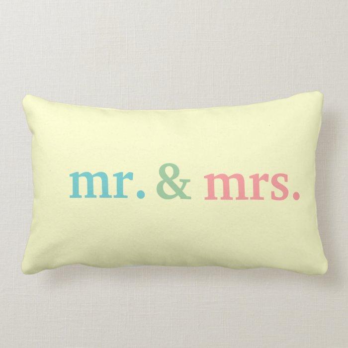 Mr & Mrs Lumbar Pillow