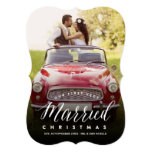 Mr & Mrs Married 1st Christmas Holiday Photo Card