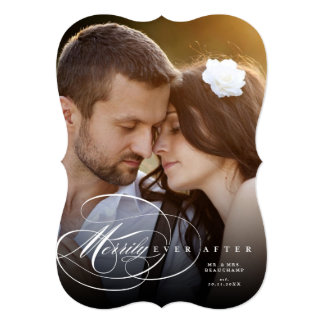 Mr & Mrs Merrily Ever After Holiday Photo Card