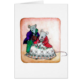 Mr & Mrs Mouse Greeting Card
