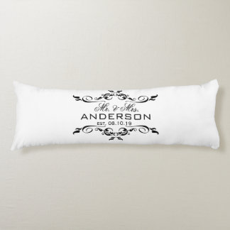 Mr. & Mrs. Name Personalized Wedding Date Gift Body Pillow