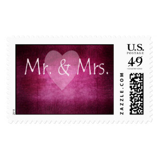 Mr & Mrs. new couple stamp