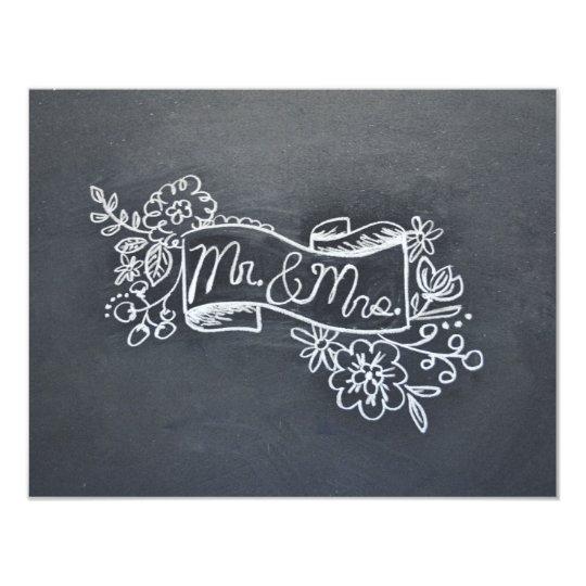 Mr & Mrs note card
