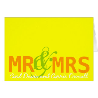 Mr & Mrs Notecard, Personalized Card