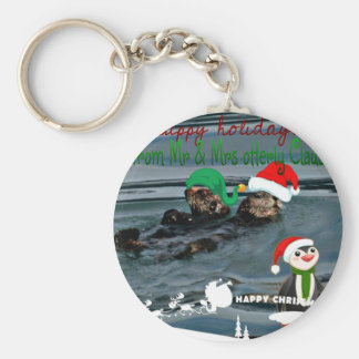 Mr & Mrs Otterly Claus Holiday Gift Keychain