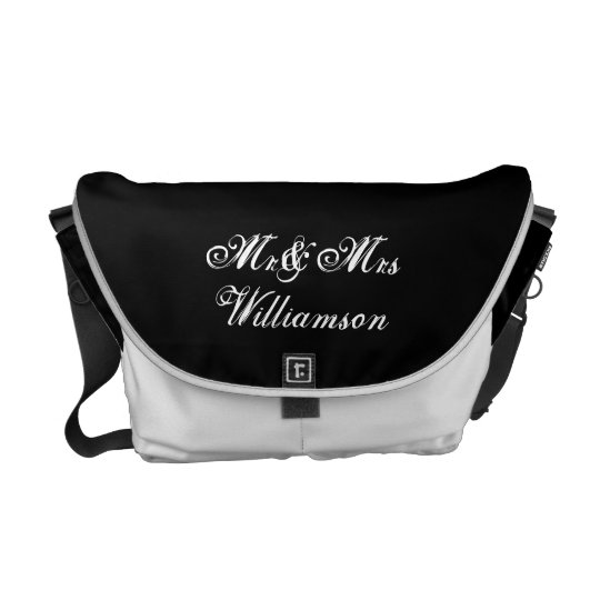 Mr & Mrs Personalized Bridal Messenger Bag