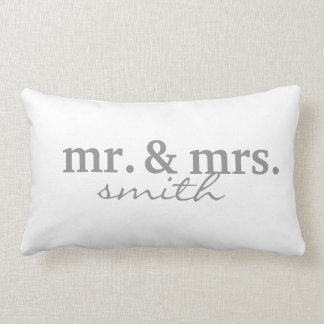 Mr & Mrs Personalized Lumbar Pillow