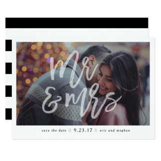 """Mr. & Mrs."" Photo Save the Date Card"