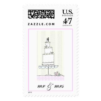 mr & mrs postage stamp