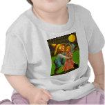 Mr. & Mrs. Pumpkin With Their Black Cat T-shirt