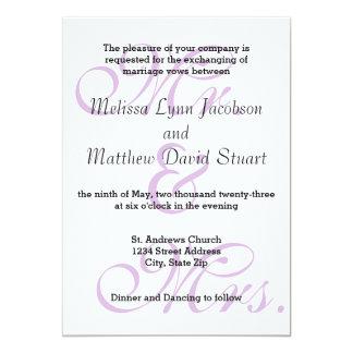 Mr. & Mrs. Purple - Wedding Invitation