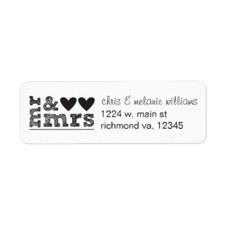 mr & mrs return address labels