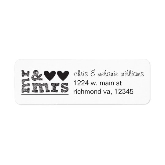 Mr  Mrs Return Address Labels  ZazzleCom