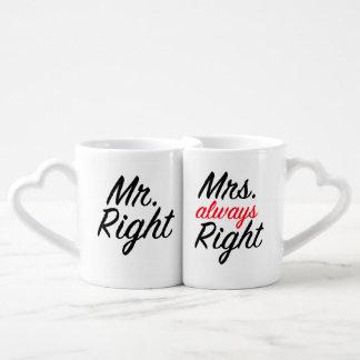 Mr&Mrs Right Coffee Mug Set