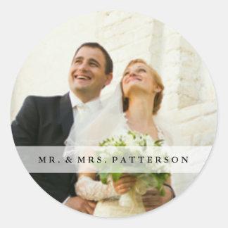 MR. & MRS. Round Closure Sticker