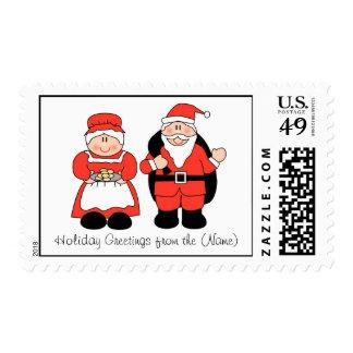 Mr. & Mrs. Santa Claus Custom Postage