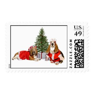 Mr & Mrs. Santa Paws Postage