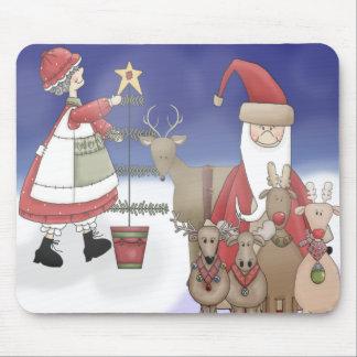 Mr & Mrs Santa with their deer Mousepad