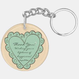 Mr. & Mrs. Sepang Wedding Double-Sided Round Acrylic Keychain