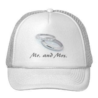 Mr. & Mrs./Silver Wedding Bands Trucker Hat