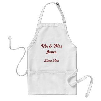 'Mr & Mrs Since 20xx' Apron