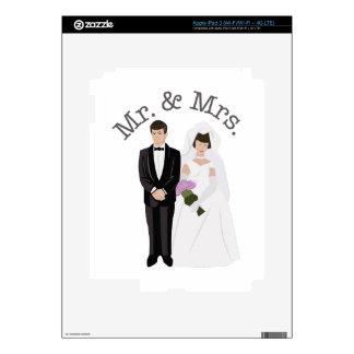 Mr. & Mrs. iPad 3 Decals