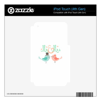 MR & MRS iPod TOUCH 4G SKINS