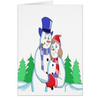Mr & Mrs Snow Card