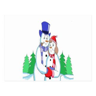Mr & Mrs Snow Postcard