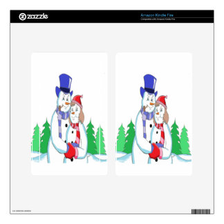 Mr & Mrs Snow Skins For Kindle Fire