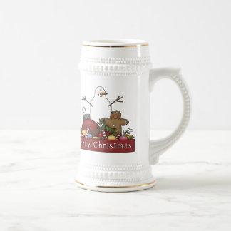 Mr & Mrs Snowman Beer Stein