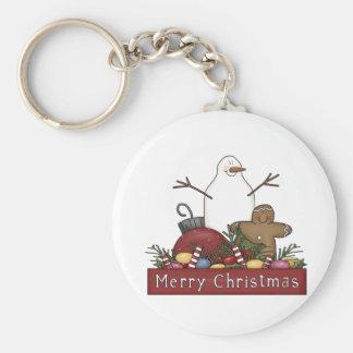 Mr & Mrs Snowman Keychain