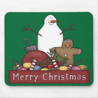Mr & Mrs Snowman Mouse Pad