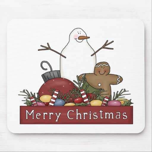 Mr & Mrs Snowman Mouse Pads