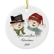 Mr. & Mrs. Snowman Ornaments